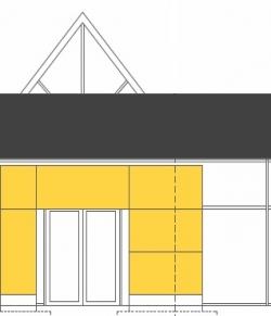 Fassade für Autohaus