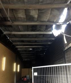 Brandschadensanierung einer Halle
