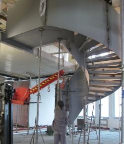 Wendeltreppe für LzO-Neubau