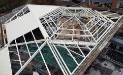 Dachkonstruktion Uni-Schwimmbad