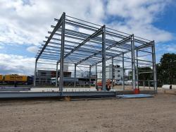 Neubau einer Lagerhalle