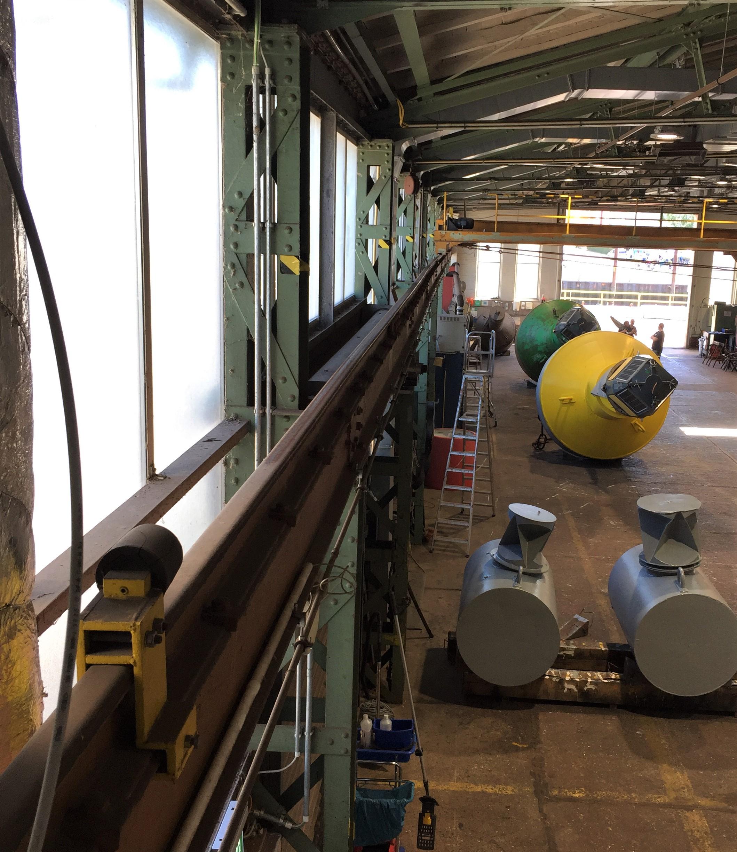 Sanierung der Kranbahn in der Tonnenhalle
