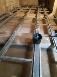 Stahlunterkonstruktion für Pontons