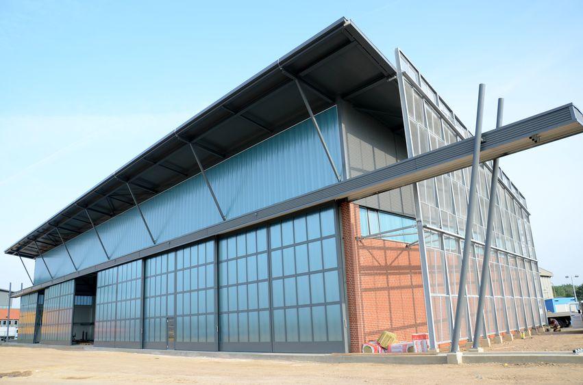 Hangar für Hubschrauber