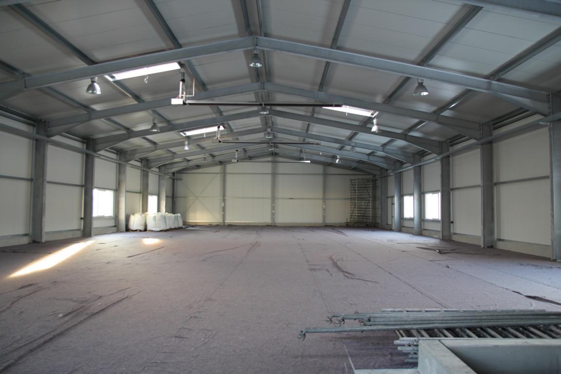 900 qm grosse Systemhalle